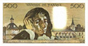 Verso 500 Francs Pascal