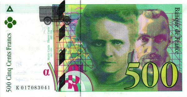 500 Francs Pierre et Marie Curie