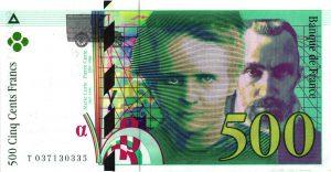 500 Francs Pierre et Marie Curie500 Francs Pierre et Marie Curie