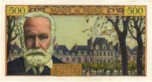 Verso 500 Francs Victor Hugo