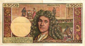 Verso 500 Nouveaux Francs Molière