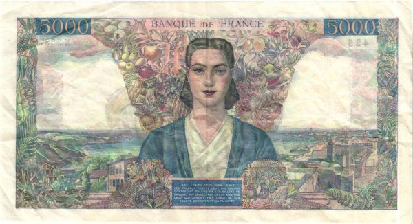 Verso 5000 Francs Empire Français