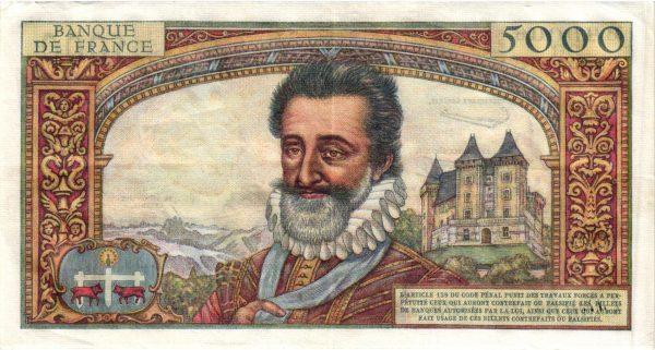 5000 Francs Henri IV