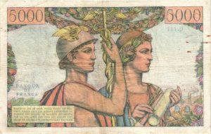 Verso 5000 Francs Terre et Mer