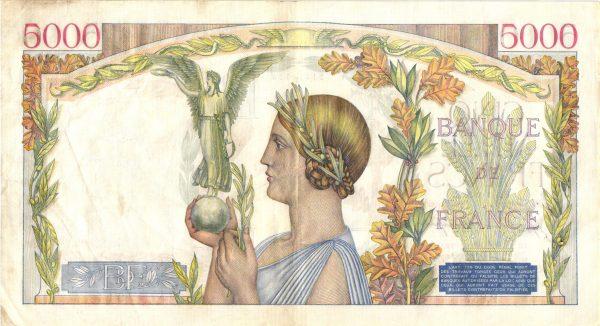 5000 Francs Victoire Impression a plat5000 Francs Victoire Impression a plat