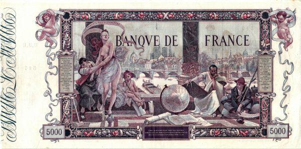 Verso 5000 Francs Flameng