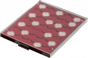 Médaillier à cases rondes pour capsules