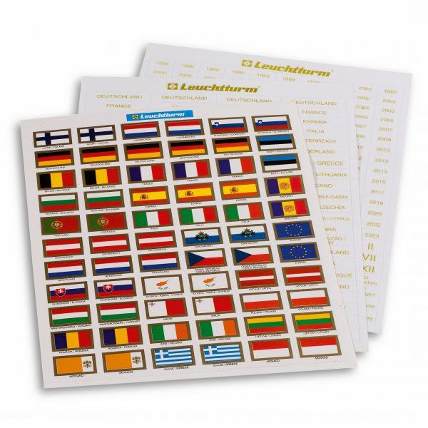 Étiquettes autocollantes pour euro