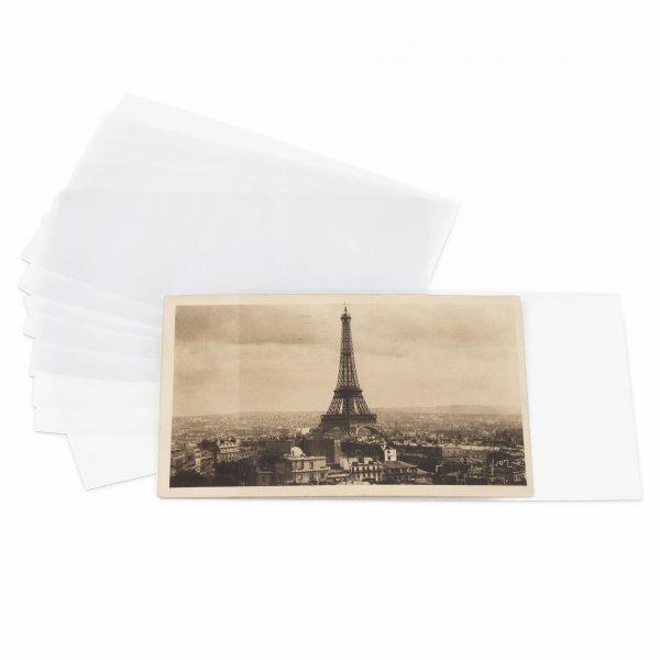 étuis de protection pour cartes postales anciennes