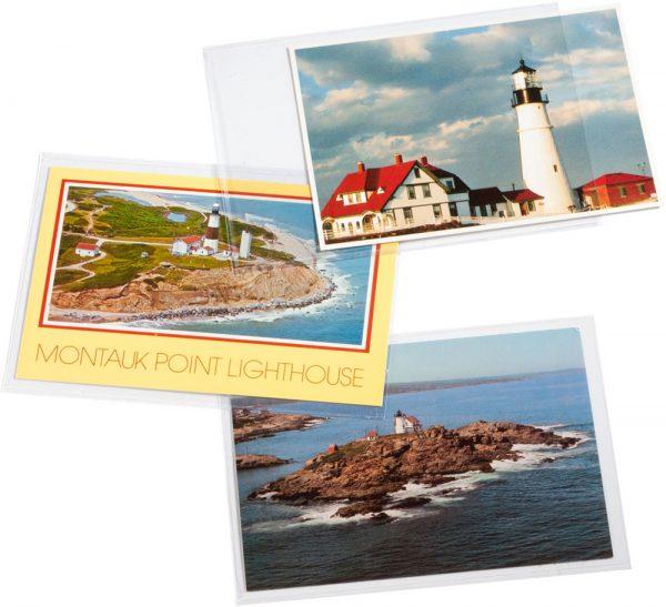 étuis individuels pour les cartes postales