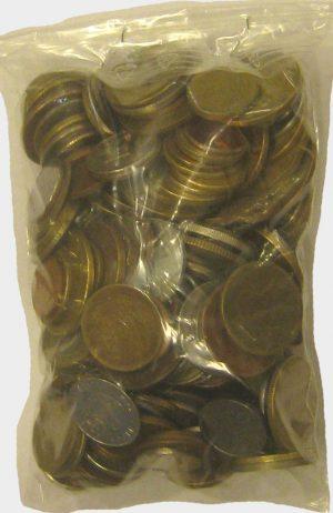 1 kg de pièces de monnaies du monde