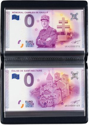Album de poche billets euro souvenir