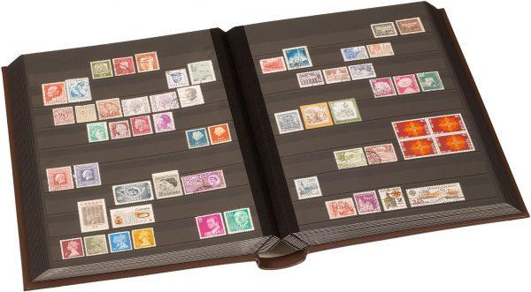 Album pour timbres en cuir