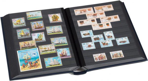 Album timbres en cuir ouatiné
