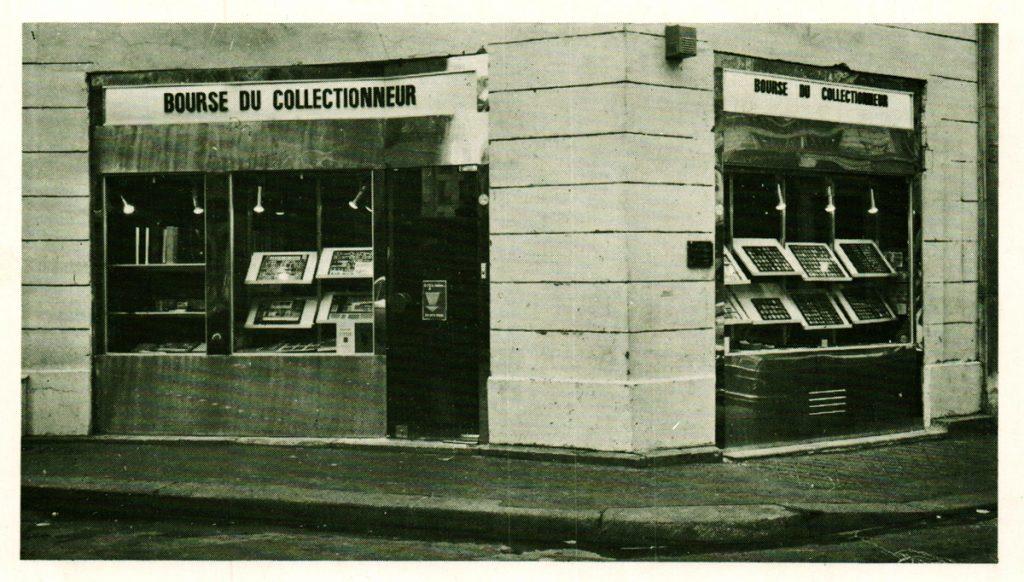 Notre boutique numismatique et philatélique de matériel de collection en 1976 juste avant les travaux d'agrandissement.