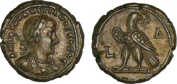 Monnaie romaine de Gallien - Tétradrachme (257-258, Alexandrie)