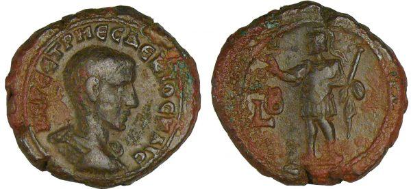 Monnaie romaine Hérennius - Tétradrachme 250-251, Alexandrie