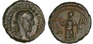 Monnaie romaine Trajan Dèce - Tétradrachme 249-250, Alexandrie