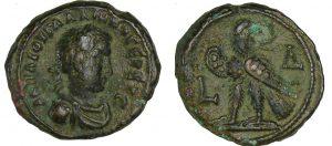 Monnaie romaine de Valérien - Tétradrachme (256-257, Alexandrie)