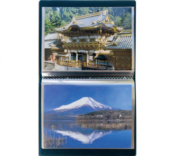 album de poche pour cartes postales de collection