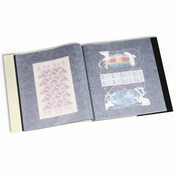 album de timbres pour feuilles entières