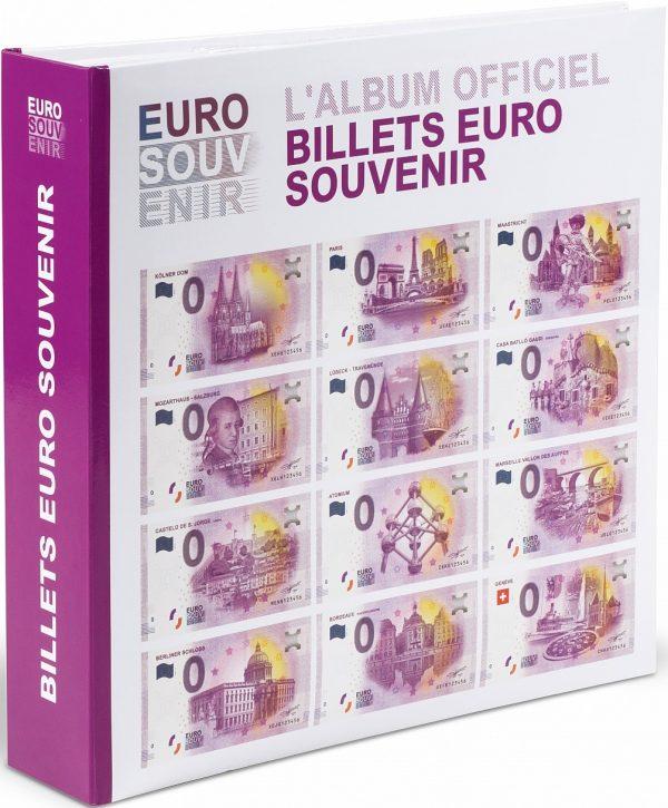 Album vierge pour 200 billets euro souvenir