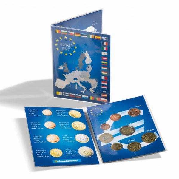 Carte de collection pour 1 série de pièces d'euro