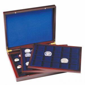 Coffret numismatique à 3 plateaux
