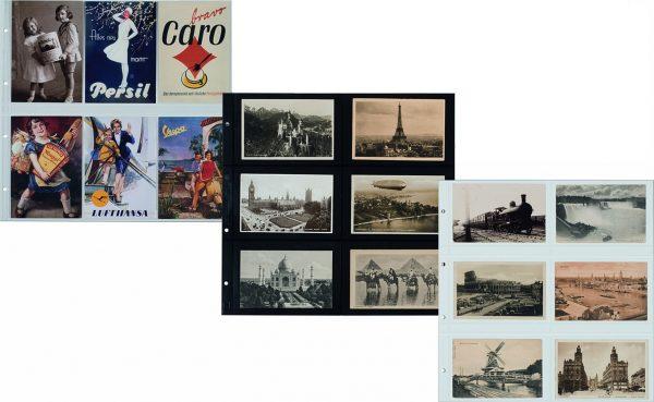 Feuilles cartes postales anciennes
