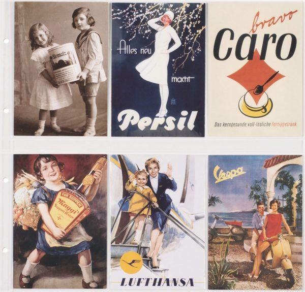 feuilles cartes postales anciennes verticales transparentes