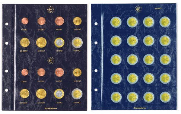 Feuilles numismatique euro