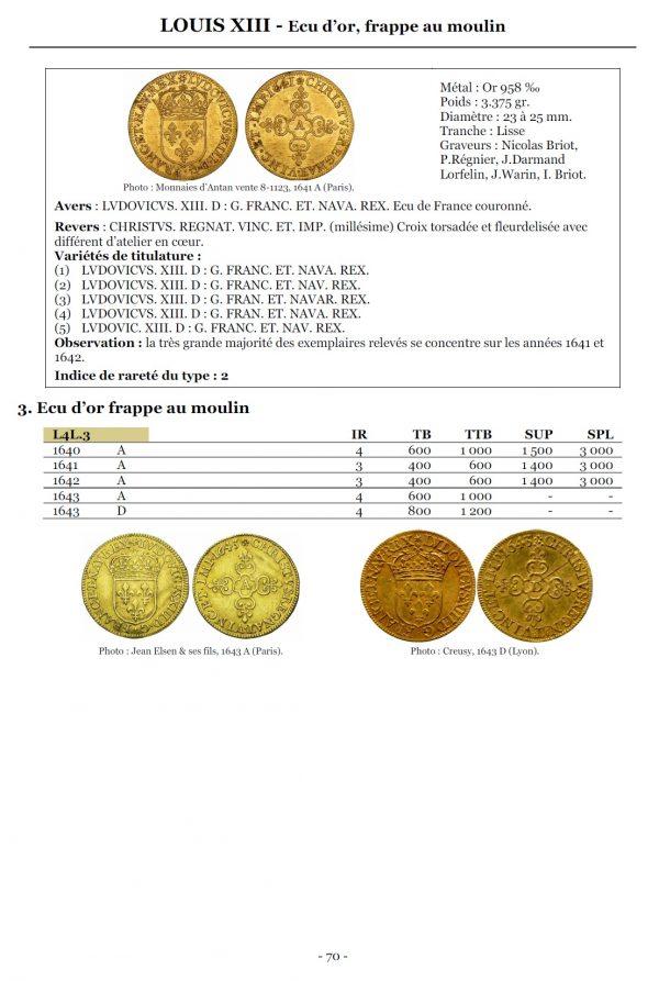 La valeur des monnaies royales