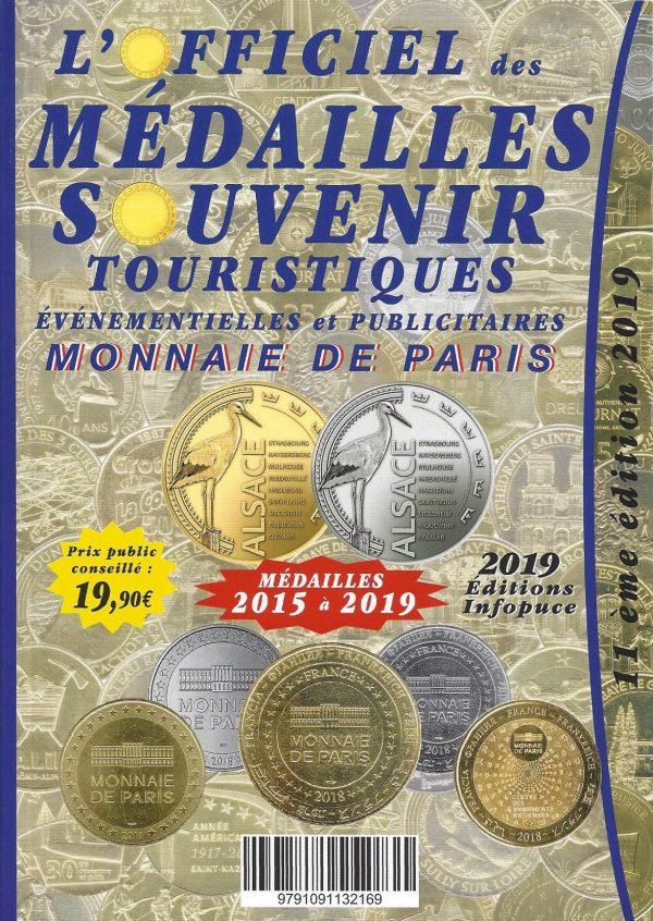 Officiel des médailles souvenir touristiques 2019