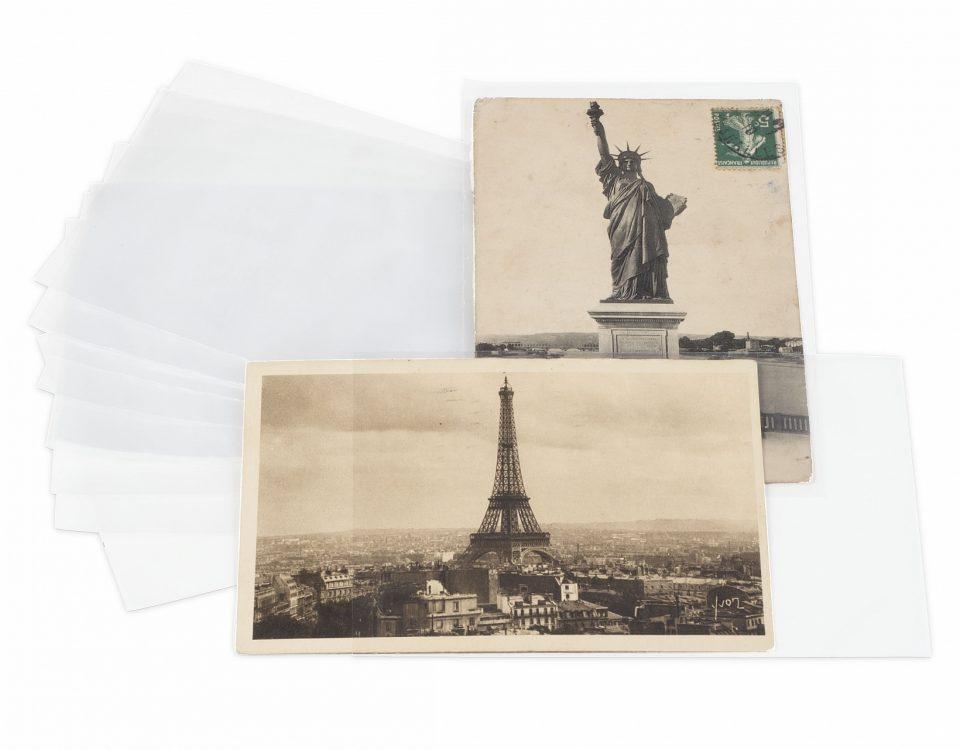 Pochettes de protection pour cartes postales anciennes
