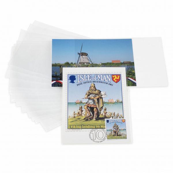Pochettes de protection pour cartes postales modernes