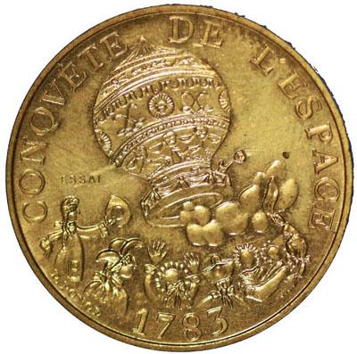 10 Francs Conquête de l'Espace ESSAI 1983