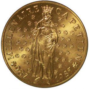 10 Francs Millénaire Capétien ESSAI 1987