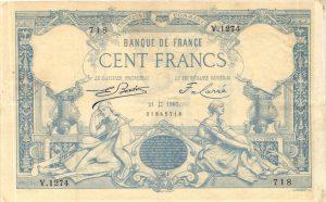 100 Francs type 1882