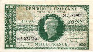 1000 Francs Marianne FAUX