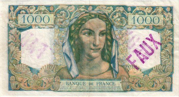 1000 Francs Minerve et Hercule CONTREFAÇON