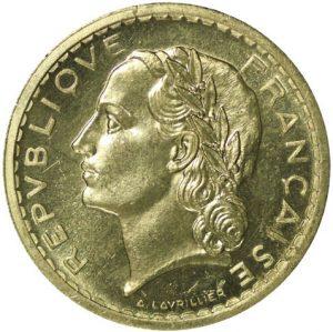 5 Francs Lavrillier ESSAI 1945