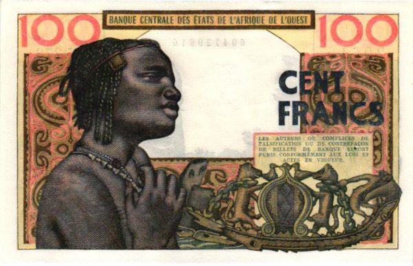 Billet de collection d'Afrique Occidentale Française