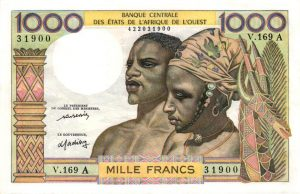 Billet de collection d'Afrique Occidentale Française