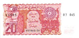 Billet de collection d'Algérie