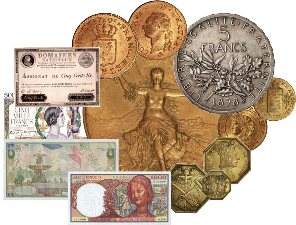 NUMISMATIQUE - Monnaies, billets, jetons et médailles
