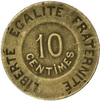 Revers 10 Centimes Rude ESSAI
