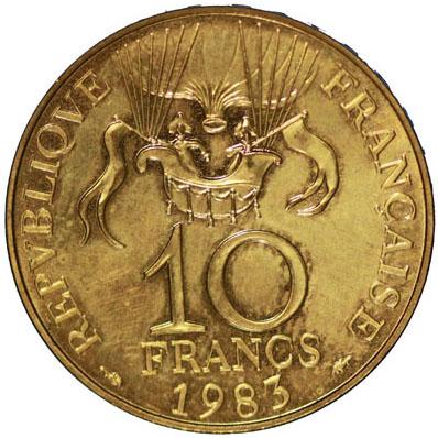 Revers 10 Francs Conquête de l'Espace ESSAI 1983
