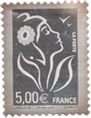 Timbre 5 Euro argent