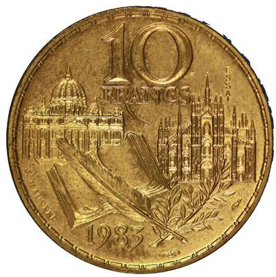 Verso 10 Francs Stendhal ESSAI 1983