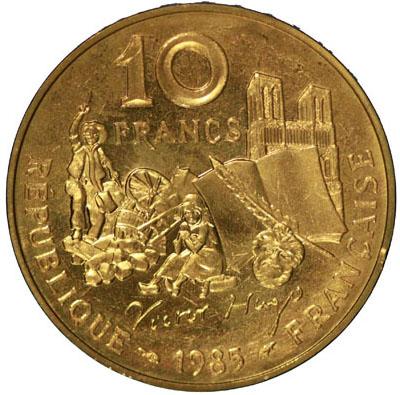 Verso 10 Francs Victor Hugo ESSAI 1985